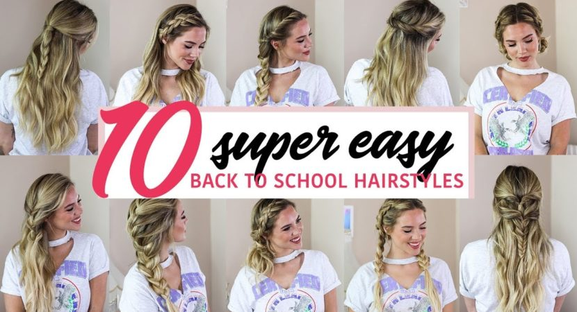 Seriously, it takes less than 5 minutes to create each look and we're sharing you 10 different hairstyles you can rock for back to school!