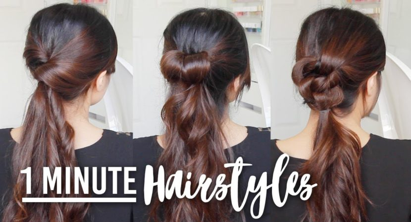 1 Minute Running Late Hairstyles Quick Easy Hair Tutorials